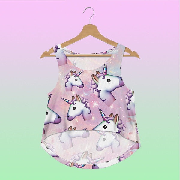 Unicorn Tank Crop Top - Very Peachy Clothing