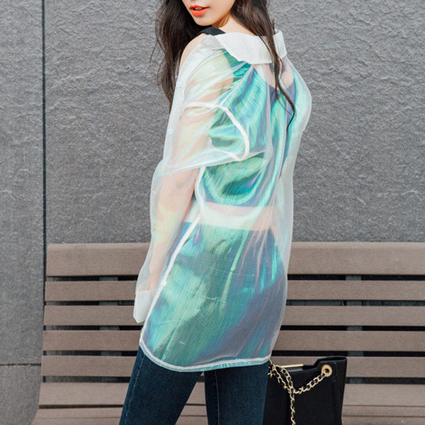 Lightweight Holographic Jacket - Very Peachy Clothing