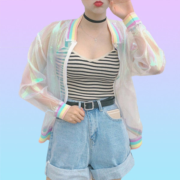 Holographic Track Jacket - Very Peachy Clothing