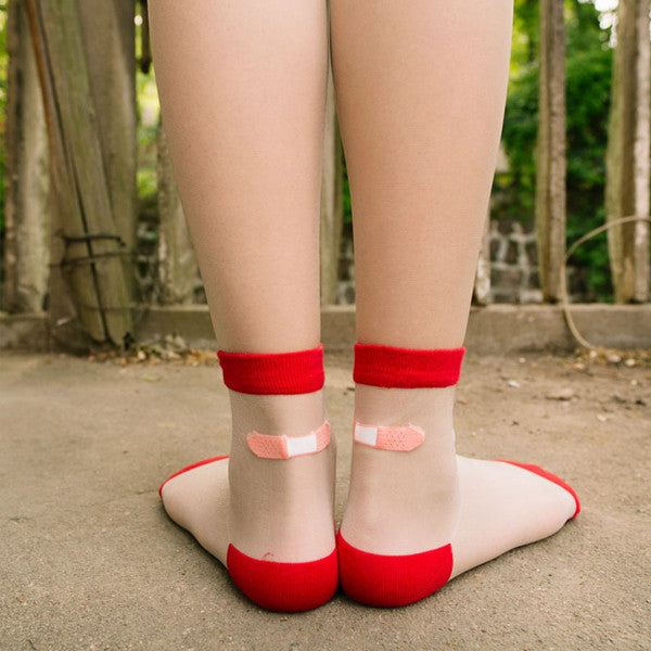 Transparent Band Aid Socks - Very Peachy Clothing
