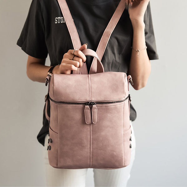 Zip Top Backpack - Very Peachy Clothing