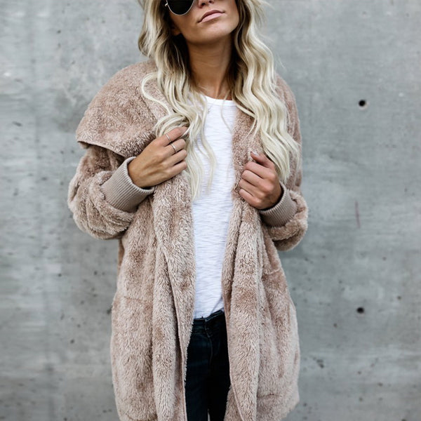 Fuzzy Fleece Oversized Jacket - Very Peachy Clothing