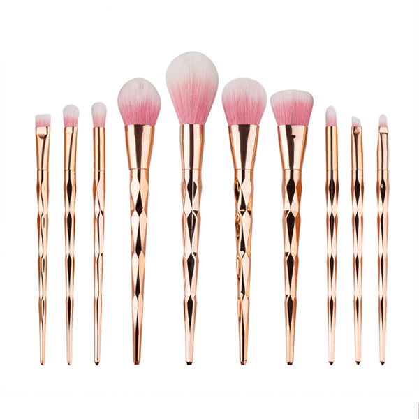 Peachy Unicorn Horn Makeup Brush 10 piece set - Very Peachy Clothing
