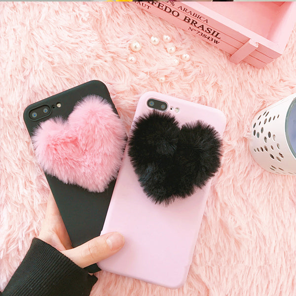 Furry Heart Mobile Phone Case - iPhone & Samsung - Very Peachy Clothing