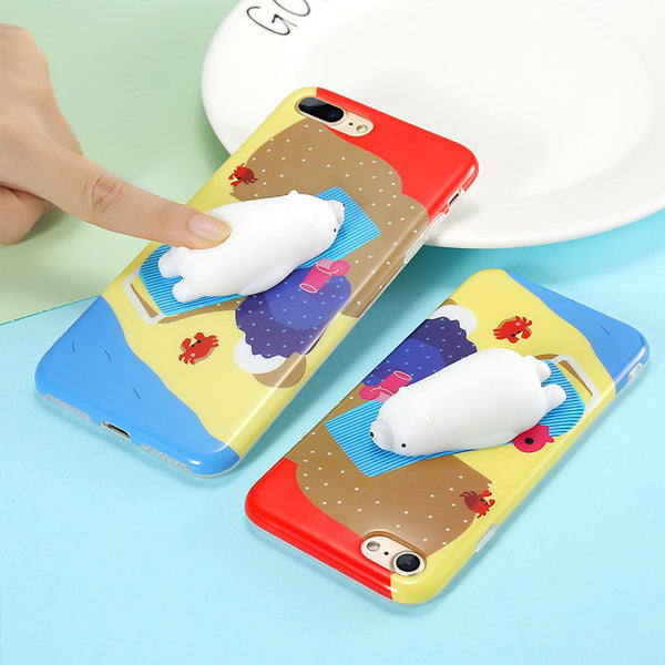 Squishy Polar Bear iPhone case - Very Peachy Clothing