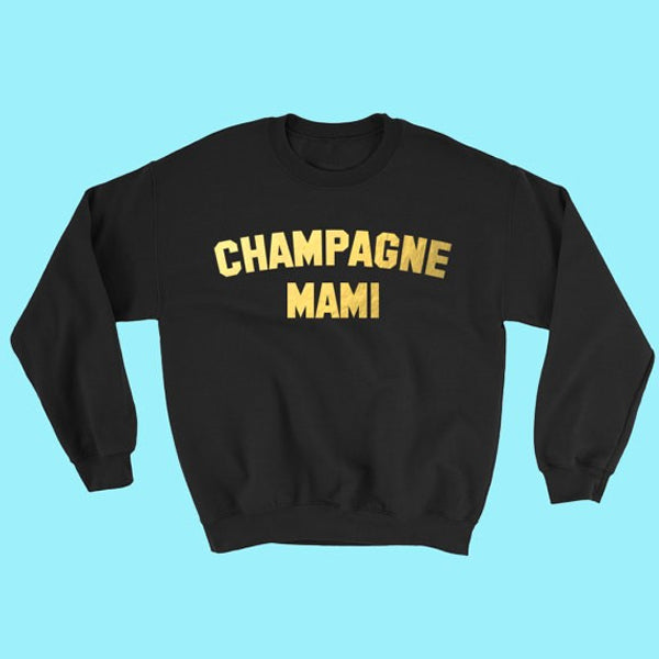 Champagne Mami Pullover Crewneck - Very Peachy Clothing