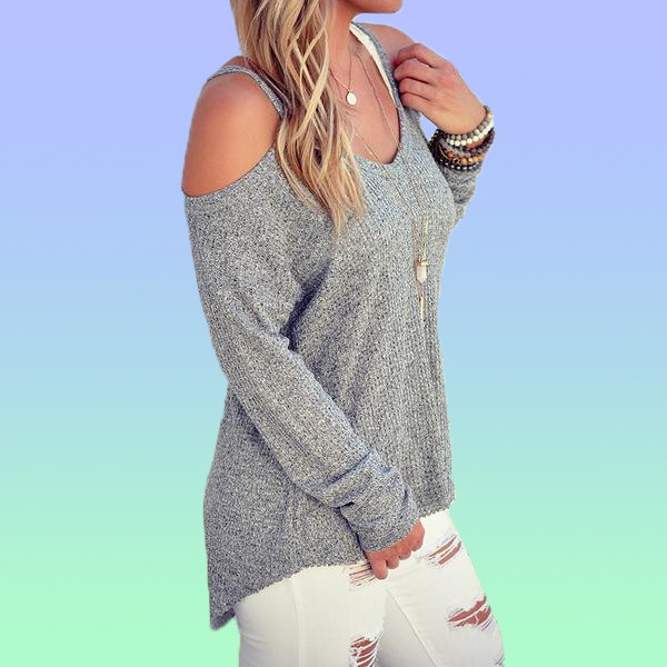 Casual Cold Shoulder Long Sleeve - Very Peachy Clothing