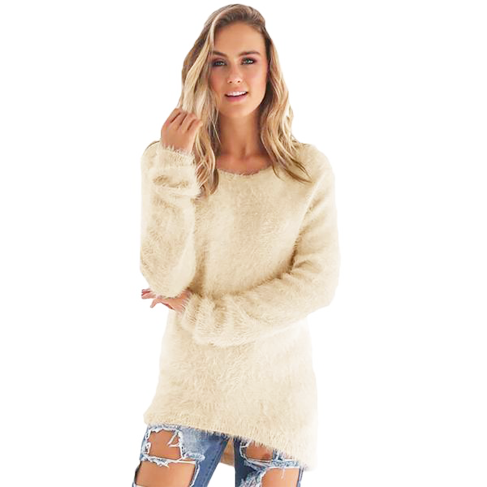 Loose Knitted Pullover Sweater - Very Peachy Clothing