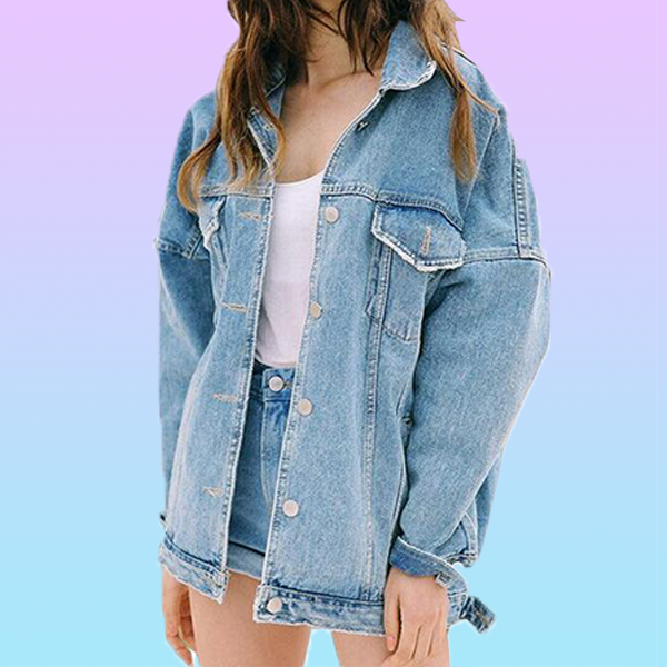 Oversized Denim Jacket - Very Peachy Clothing