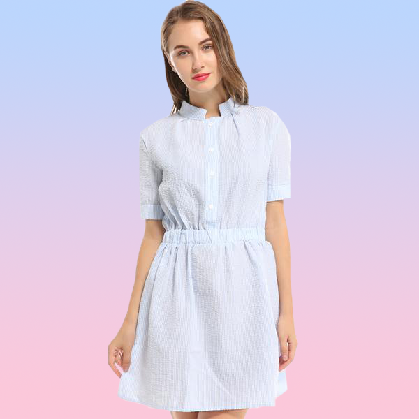 Casual Linen Shirt Dress - Very Peachy Clothing