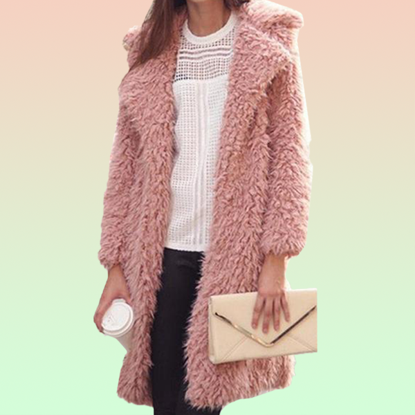 Furry Shag Coat - Very Peachy Clothing