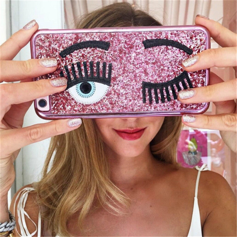 Sequin Winking iPhone Case - Very Peachy Clothing