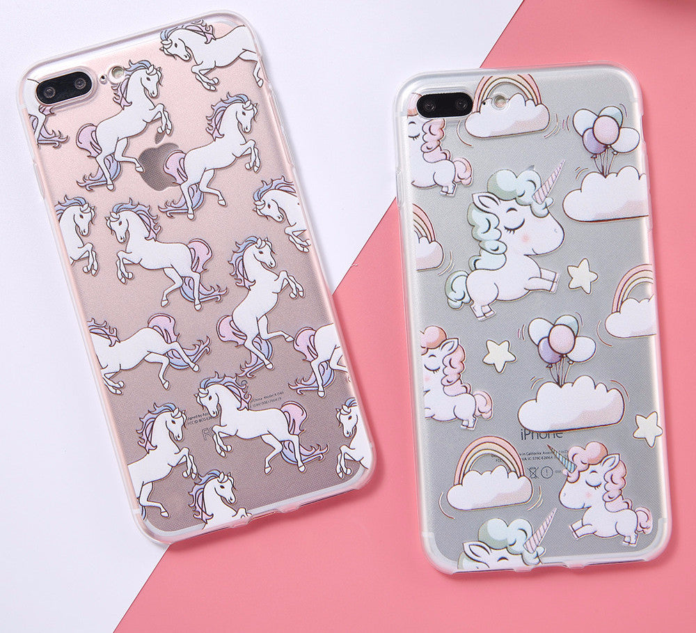 🦄 Clear Unicorn iPhone Case 🦄 - Very Peachy Clothing