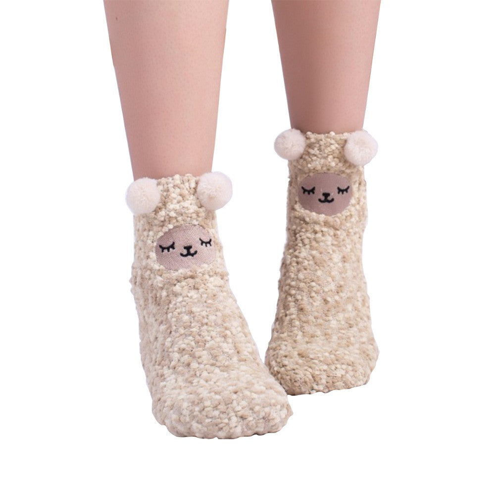 Fuzzy Sheep Socks - Very Peachy Clothing