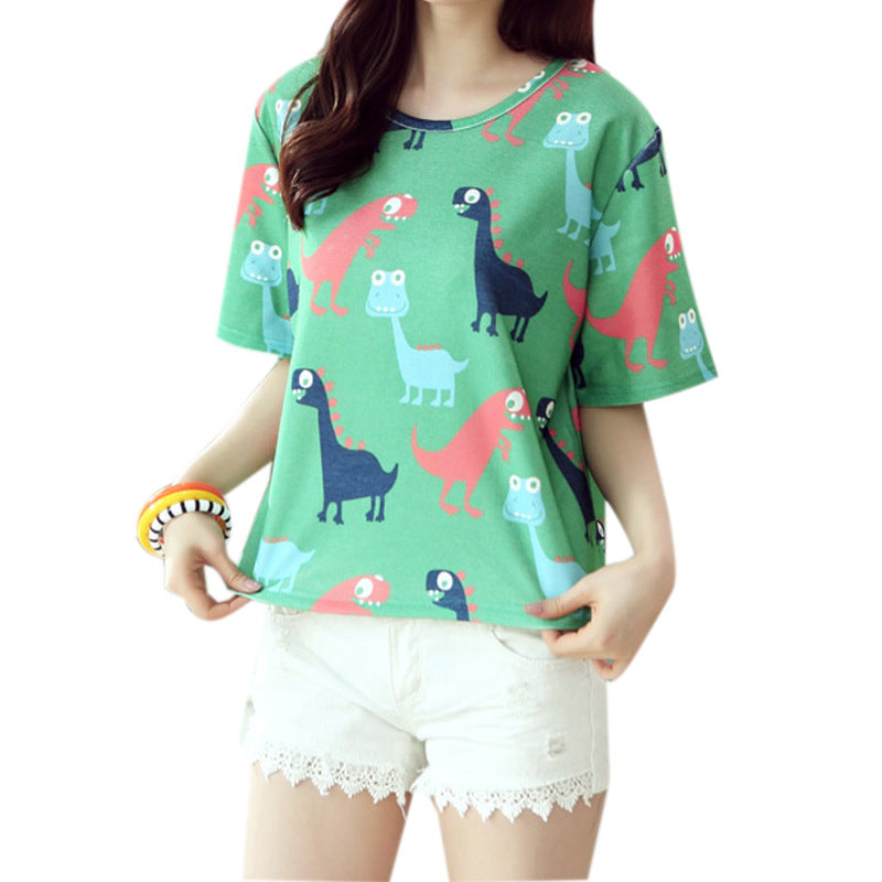 Kawaii Dinosaur Tee - Very Peachy Clothing