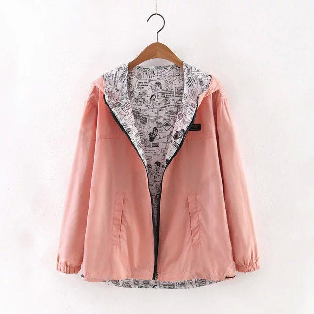 Reversible Two-Sided Windbreaker - Very Peachy Clothing