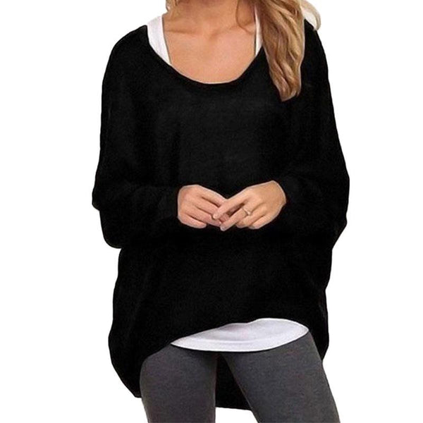 Batwing Pullover Sweater - Very Peachy Clothing