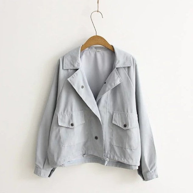 Pretty Relaxed Button-Up Jacket - Very Peachy Clothing