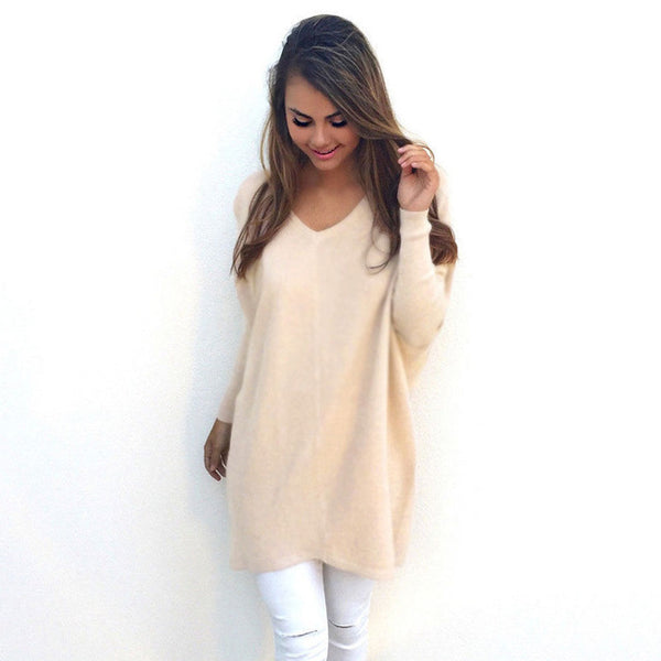 Slouchy Long Sweater - Very Peachy Clothing