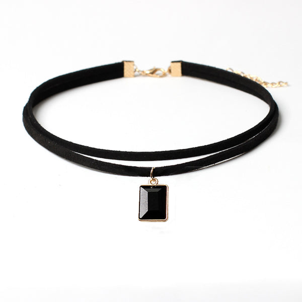 Black Velvet Gothic Choker Necklace - Very Peachy Clothing