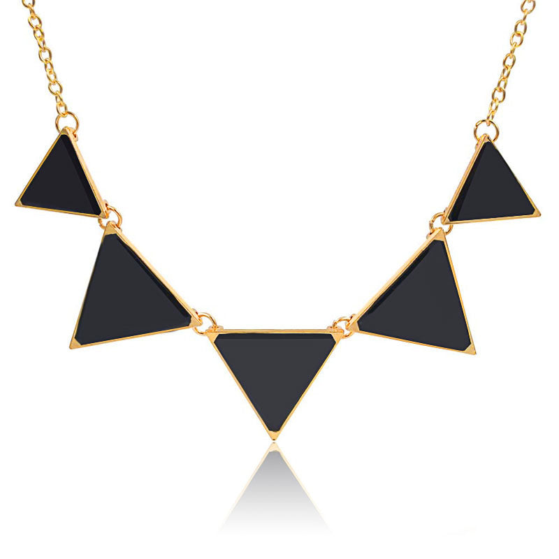 Triangle Chain Necklace - Very Peachy Clothing