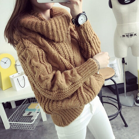 Oversized Cableknit Chunky Sweater - Very Peachy Clothing