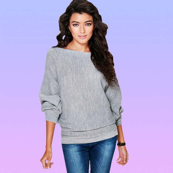 Relaxed Knitted Sweater - Very Peachy Clothing