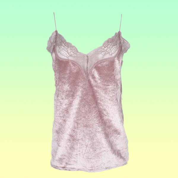 Lacey Velvet V-Neck Tank - Very Peachy Clothing