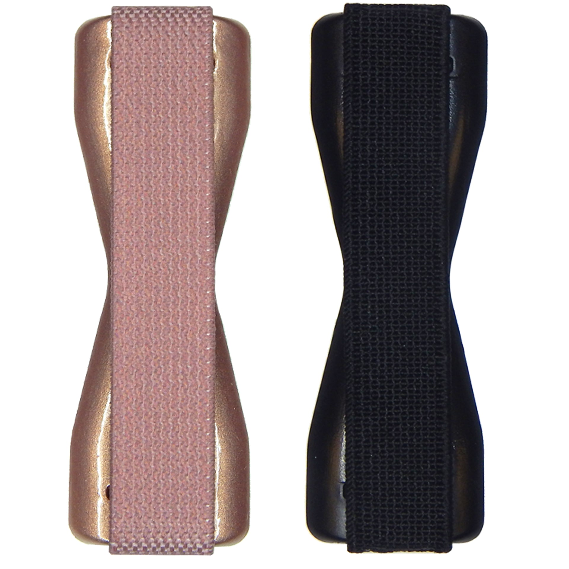 Solid Rose Gold & Black LoveHandle Phone Grip - 2 Pack Top Pair