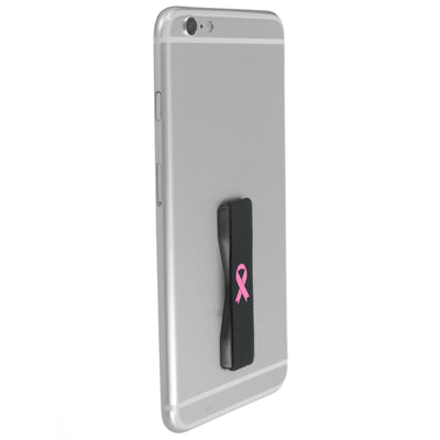 Pink Ribbon Phone Grip - Black Base