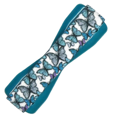 Teal Butterfly Pattern Phone Grip