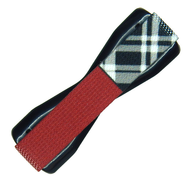 Solid Red Plaid Phone Grip