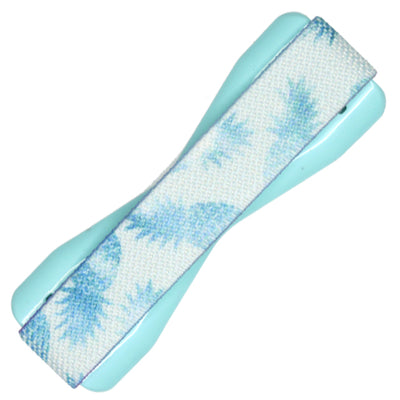 Champagne Pineapple Phone Grip in Light Blue