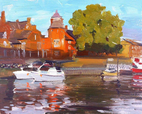 "Evening Light Reflections, River Ouse, 10"" x 8"""