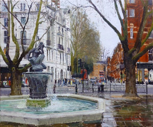 "Grey Tones Sloane Square, Oil on Canvas, 20"" x 24"