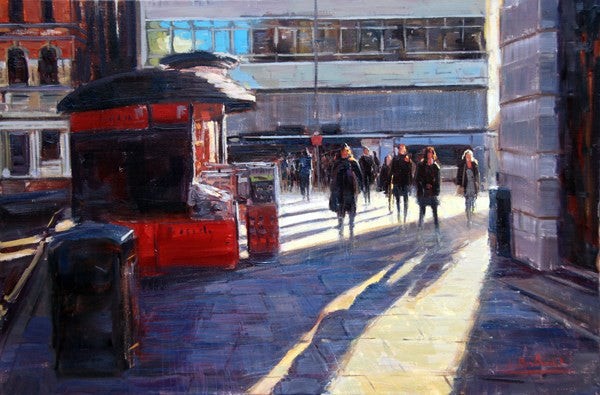 "Morning Light, Sloane Square II, oil on canvas, 30"" x 20"""