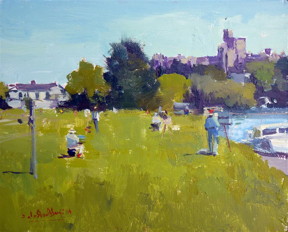 "Royal Institute Of Oil Painters Painting Out Day,  Windsor, Oil On Board, 10"" x 8"""