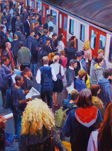 "Rush Hour VI, Oil on Canvas, 18"" x 24"","