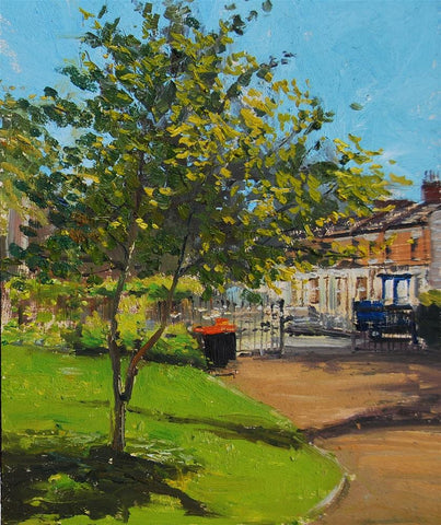 "Spring is Here!!(Westfield Park, Chelsea), Oil on board, 8"" x 10"""