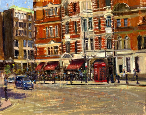 "Summer Heat Sloane Square, Oil on board, 10"" x 8"""