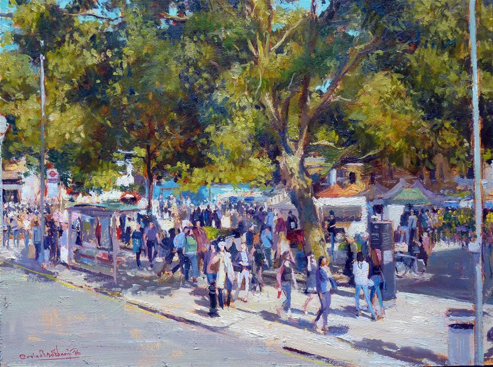 "Summer Shadows, Duke of York Square, Oil on Board, 16"" x 12"""