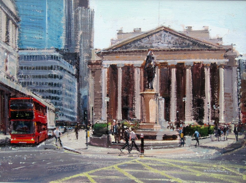 "Summerlight, City of London, Oil on Canvas, 16"" x 12""ade"