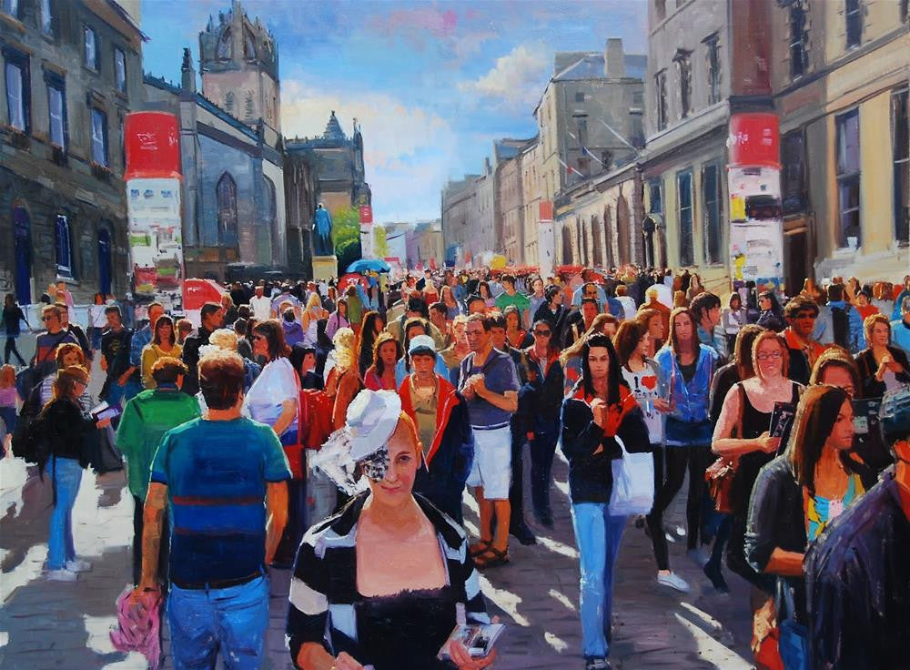 "The Festival Begins, Oil on canvas, 40"" x 30"""