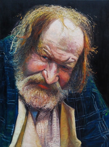 "The Face of Homelessness, Charing Cross Rd III, oil on Canvas, 36"" x 48"""