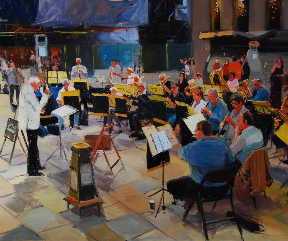 "The Orchestra, Oil on canvas, 24"" x 20"""