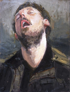 "The Snorer, Oil On Board, 12"" x 16"""