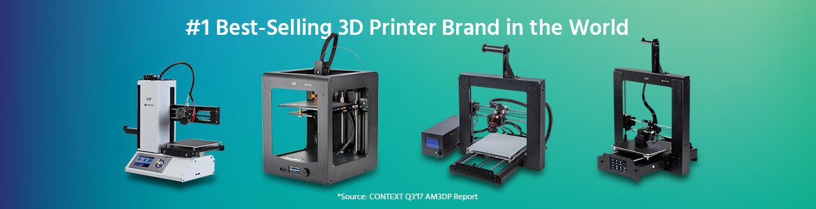 #1 3D Printer Brand in the World.