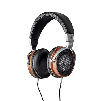 Monolith M600 Over Ear Headphones - Black/Wood With 50mm Driver, Open Back Design, Light Weight, And Comfort Ear Pads by Monoprice