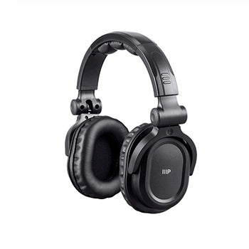 Premium Hi-Fi DJ Style Over-the-Ear Pro Bluetooth Headphones with Mic and Qualcomm aptX Support (8323 with Bluetooth) by Monoprice