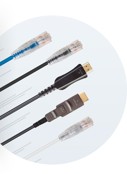 SlimRun HDMI & Cat6 Ethernet Cables